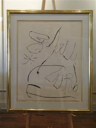 Joan Miro - D869 Untitled Aquatint from the Espiru Suit