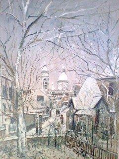 """ Montmarte"" Utrillo Print"
