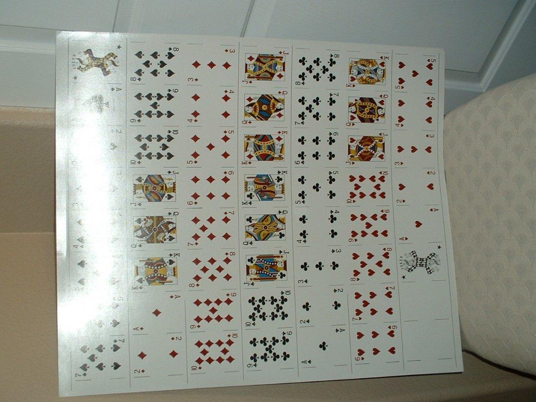 """Gemco Playing Cards"" Uncut Sheet"