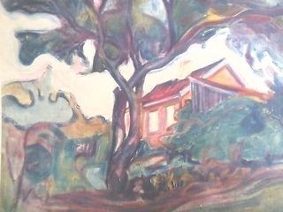 """ Landscape"" Edvard Munch  Abstract Print"