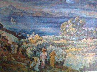 "\""Landscape\"" Print Jozef Pankiewicz"