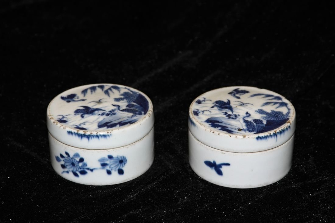 Blue and White Rouge Box (Qing)