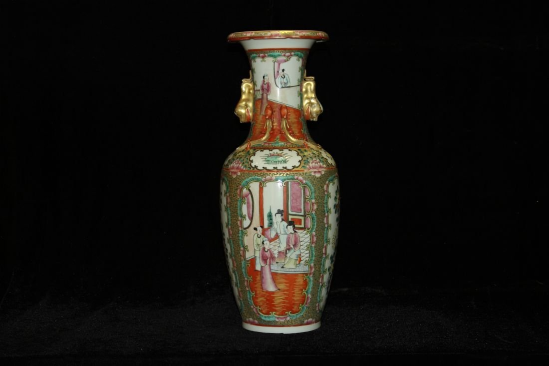Guang Cai Vase with Ears (ROC)