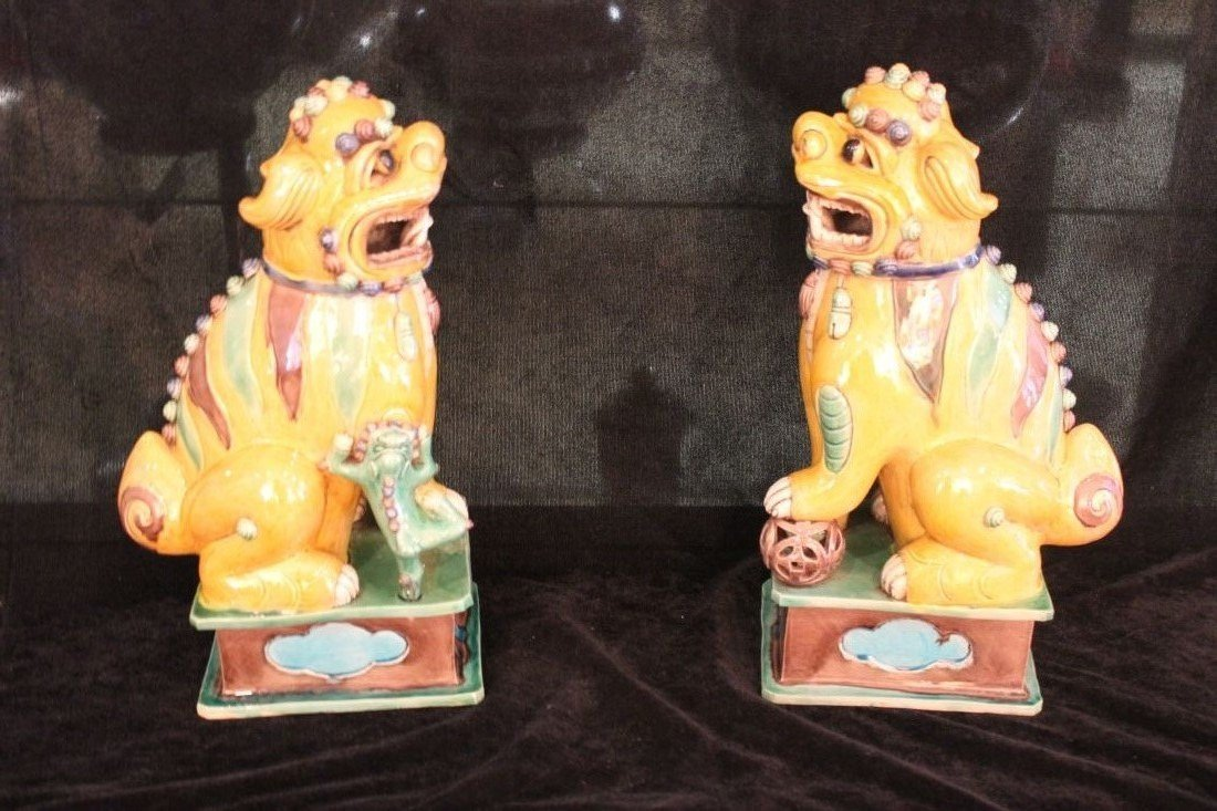 Three Color Lion  ( Qing Dynasty )