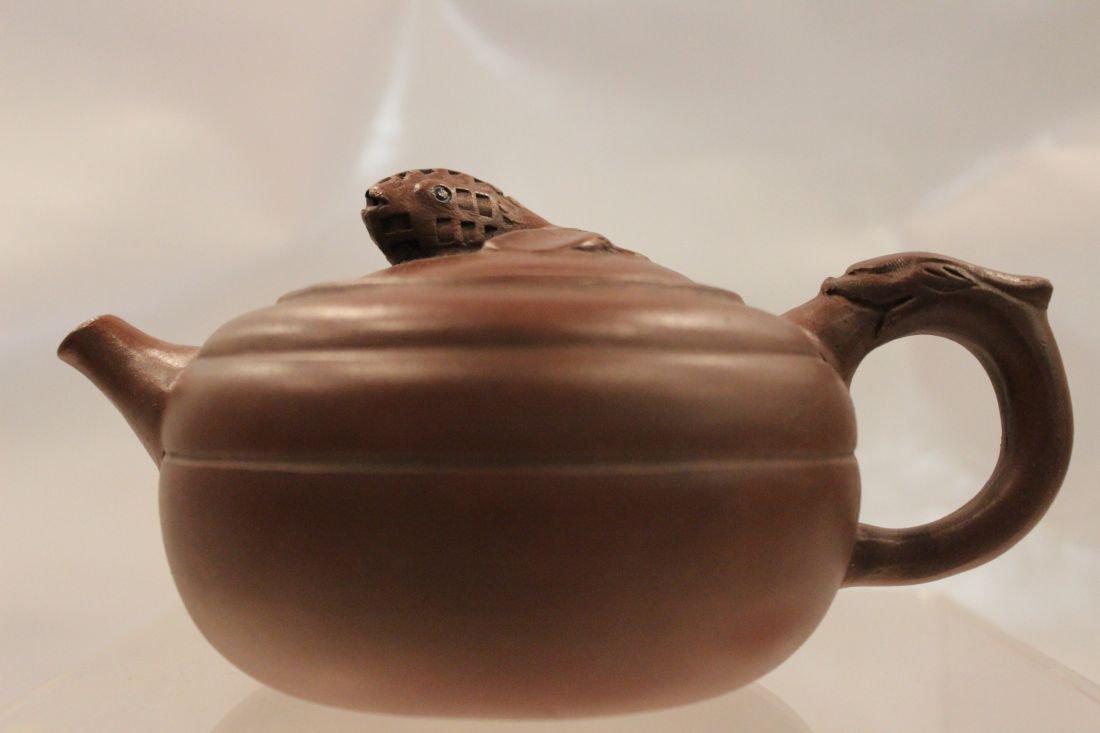 I-Hsing teapot with Koi