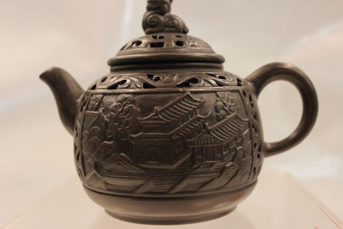 Black I-Hsing Teapot- Suzhou Style
