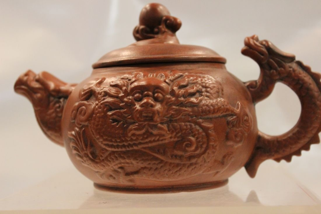 I-Hsing teapot with dragons
