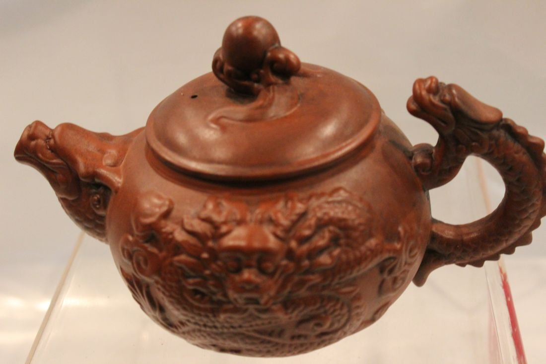 I-Hsing teapot with dragons - 2
