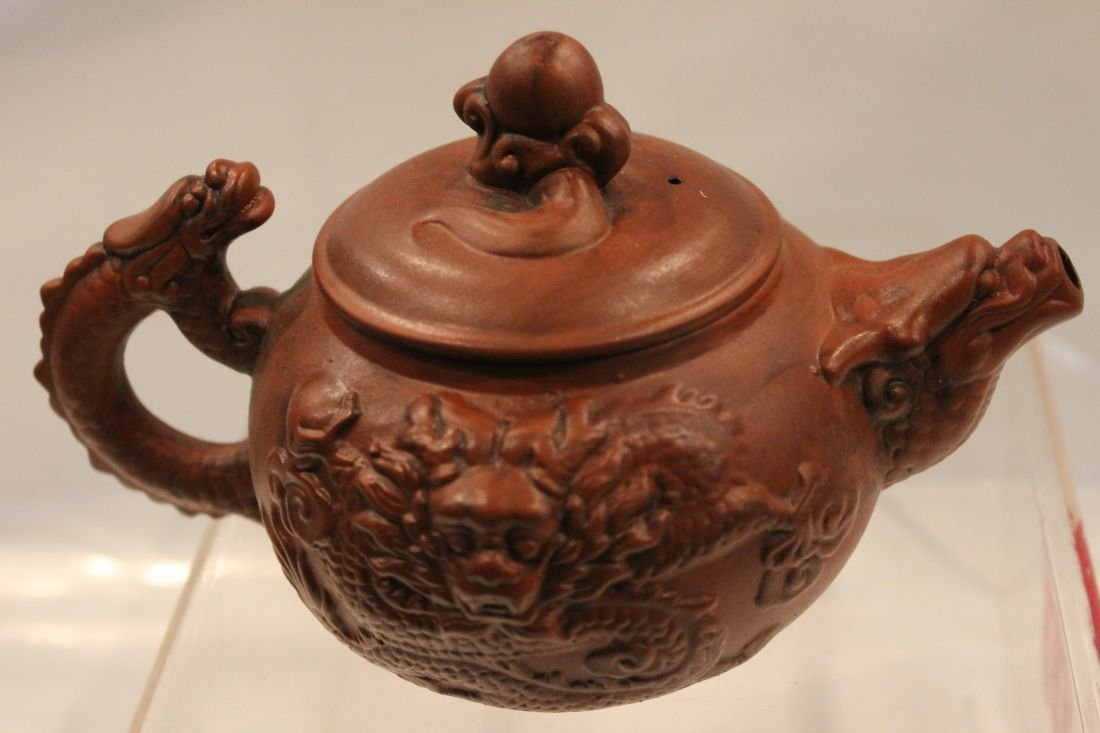 I-Hsing teapot with dragons - 3