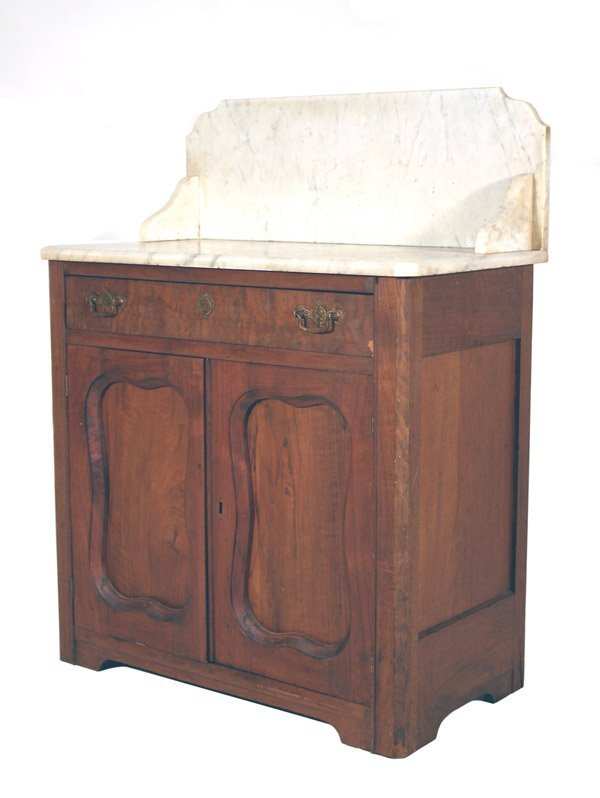 "5: Victorian Marble Top Washstand 37.5""h x 29""w x 16"""