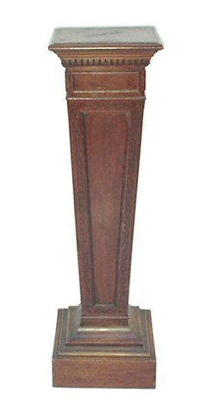 6: Victorian Carved Mahogany Pedestal