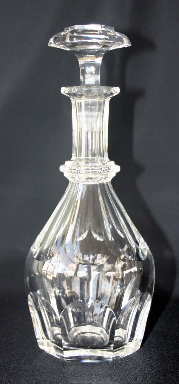 "10: Signed Bacarrat Glass Decanter 8.5""h"