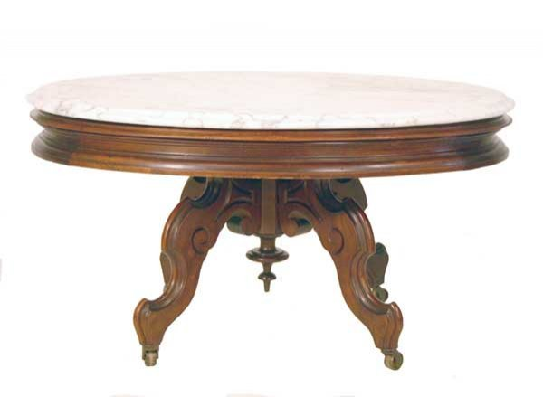 13: Victorian Marble Top Coffee Table