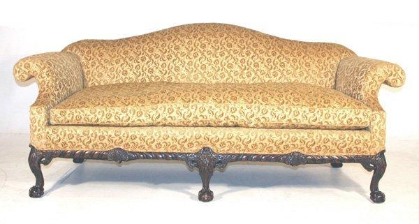 20: Mahogany Chippendale Style Sofa Circa 1900