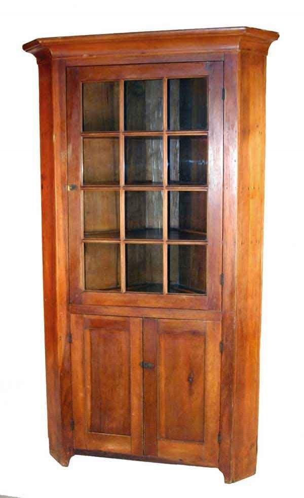 116: Early Cherry Corner Cupboard