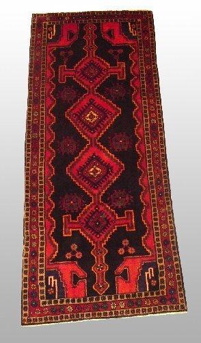 2: SEMI-ANTIQUE PERSIAN RUG 3'7 X 8'8