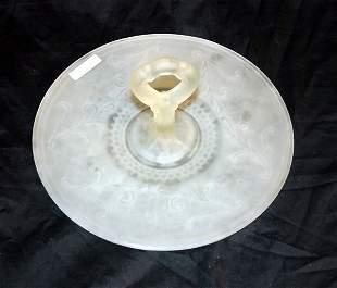 Satin Glass Candy Dish