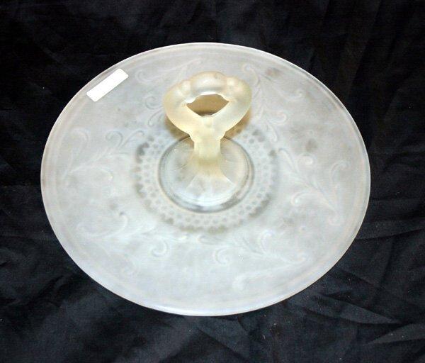 1005: Satin Glass Candy Dish