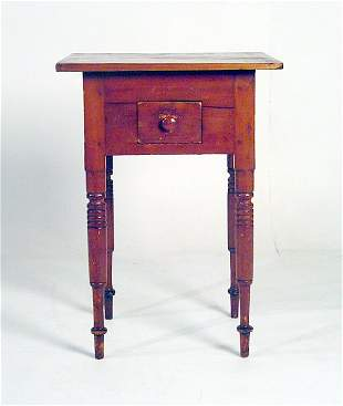 New England Maple One Drawer Work Table