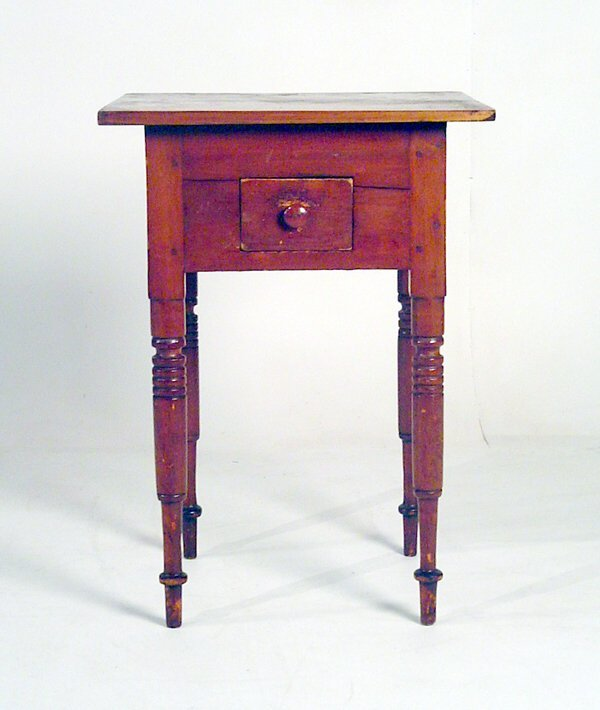 1006: New England Maple One Drawer Work Table