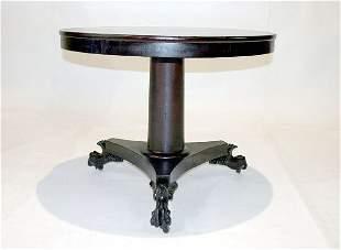Mahogany Empire Round Tilt Top Table