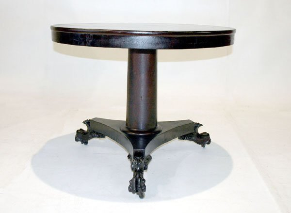 1010: Mahogany Empire Round Tilt Top Table