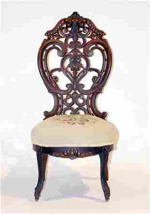 American Rosewood Laminated Parlor Chair
