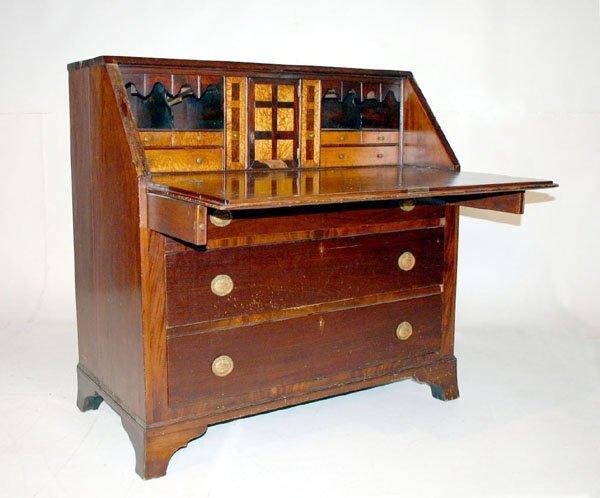 1015: American Sheraton Slant Lid Desk