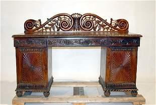 English Rosewood Regency Sideboard