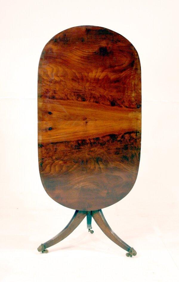 1020: Mahogany English Tilt Top Table