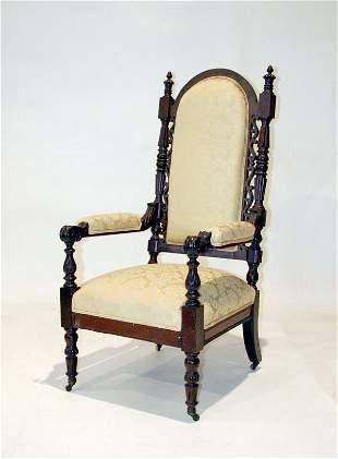 American Mahogany Fireside Chair