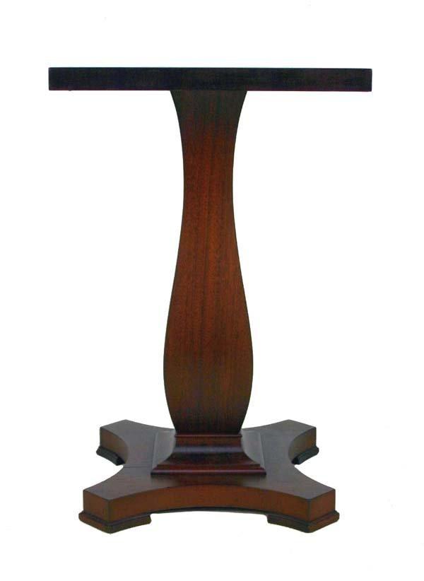 5: Mahogany Pumpkin Base Pedestal