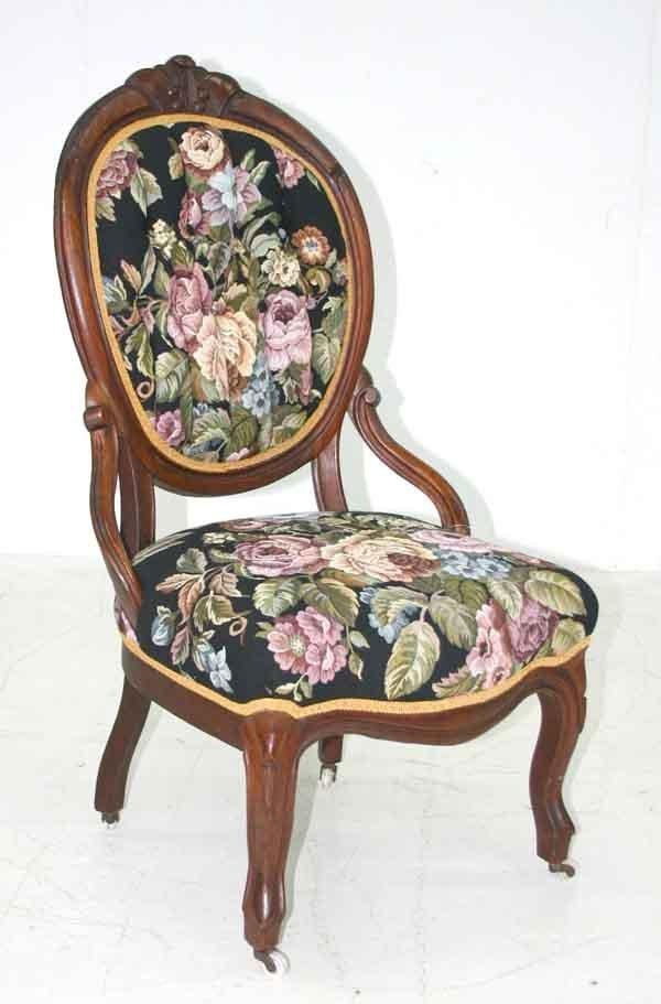 6: Victorian Walnut Balloon Back Chair