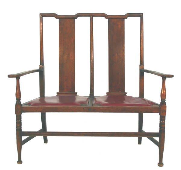 8: Oak Chair Back Love Seat