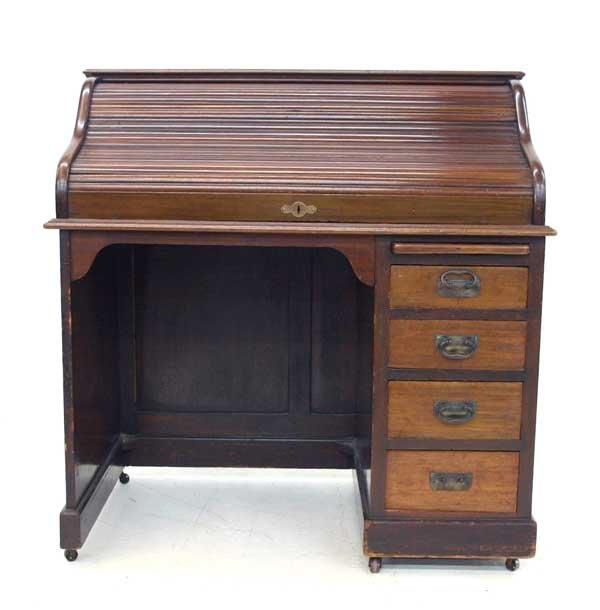 9: Antique S-Roll Top Desk