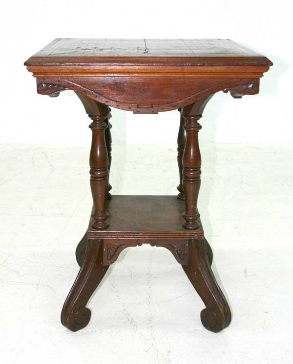 14: Victorian Parlor Table w/Inlaid Top