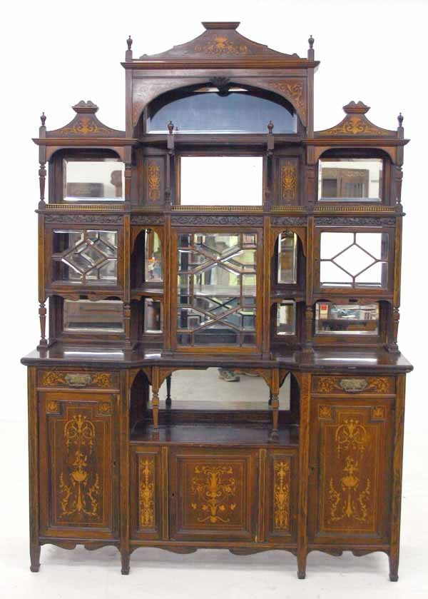 18: Rosewood Inlaid Aesthetic Movement Etagere