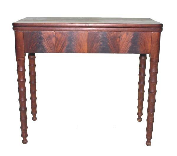 20: Country Sheraton Mahogany Game Table c 1830