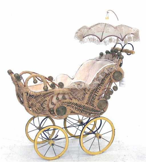 220 Ornate Victorian Style Baby Carriage