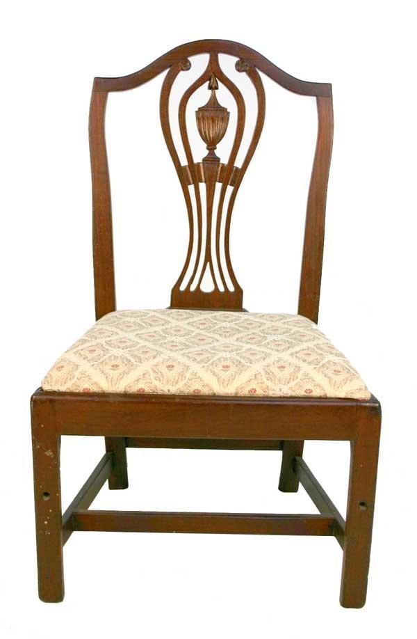 2: American Mahogany Hepplewhite Side Chair