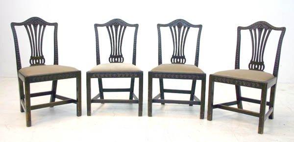 6: Four Mahogany Hepplewhite Dining Chairs