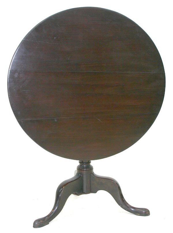 10: 18th C Mahogany George II Tilt Top Tea Table
