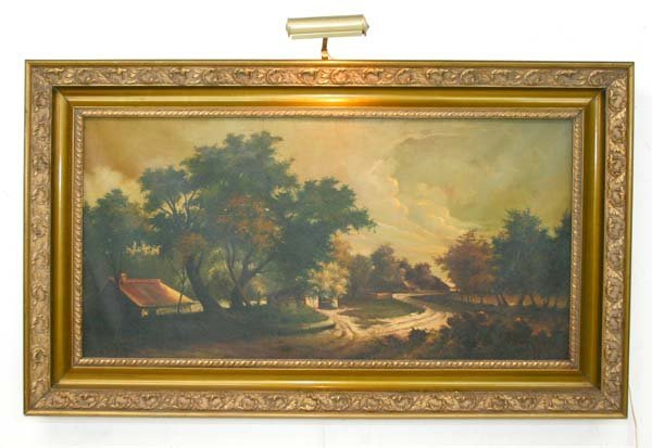 14: 19th C Oil On Canvas American Landscape Painting