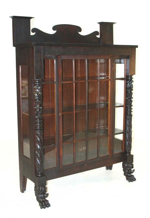 17: American Federal Mahogany Bookcase. Circa 1820