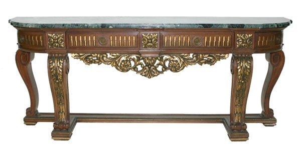 22: Italian Walnut Louis XV Style Console Table