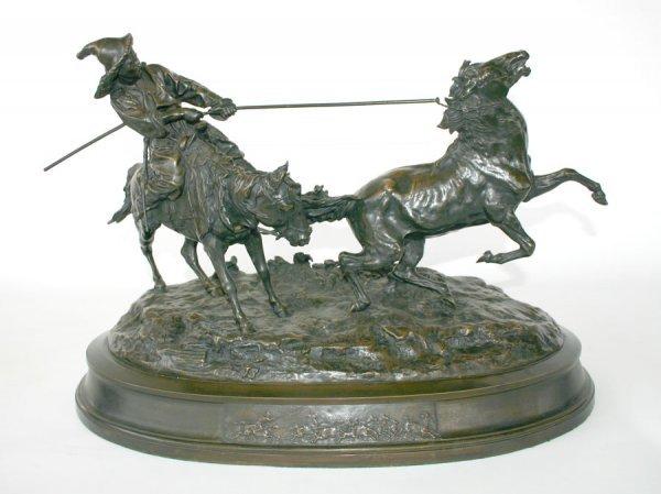 174: Russian Bronze Sculpture By Eugene Lanceray