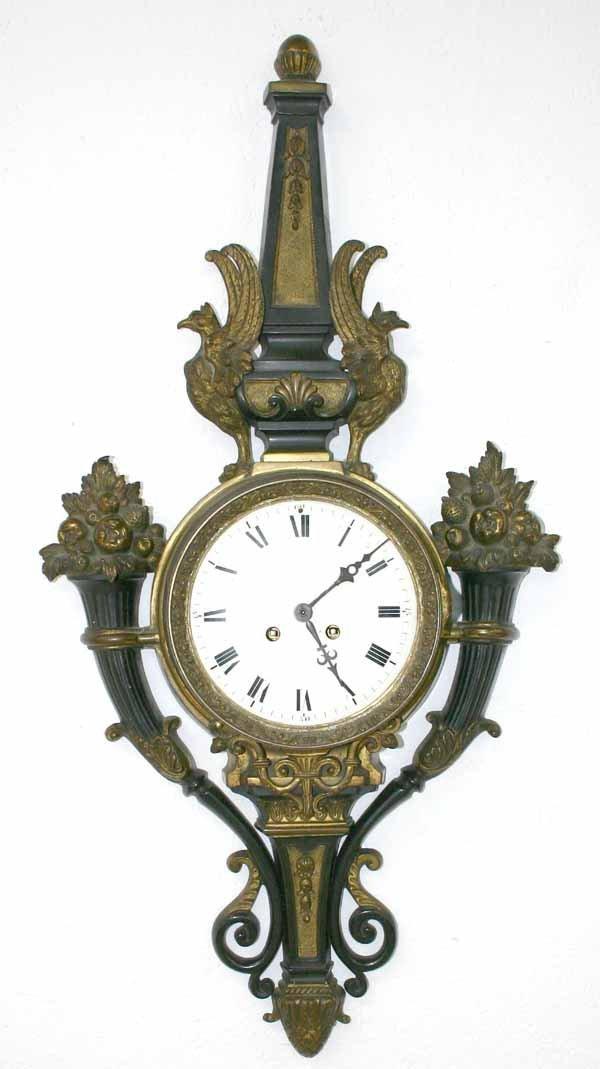 7: Bronze 19th C French Empire Clock
