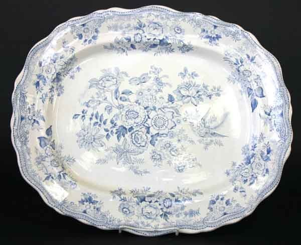 16: English Staffordshire Platter Asiatic Pattern
