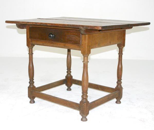 17: American 18th c Walnut Tavern Table. Circa 1850