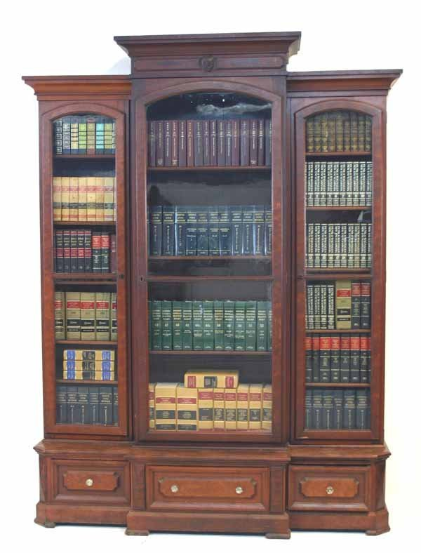 20: American Victorian Renaissance Walnut Bookcase